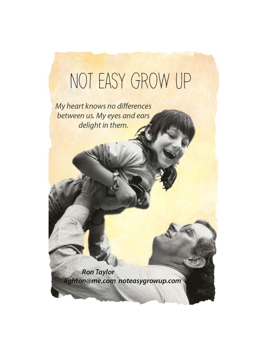 NOT EASY GROW UP  Unconditional Love in a World of Conditions  Filmmaker and Son   Show and Tell   A 34-year documentary about Nurturing and Disability   In Not Easy Grow Up filmmaker/father Ron Taylor portrays the significant moments from infancy to adulthood of his son Micah's living with Cerebral Palsy. Intimately recorded on film, Ron captured the ups and downs, milestones and challenges, smiles and tears over 34 years.   The film touches on social attitudes, technology, and education such as reciprocal benefits to caregivers and receivers and person-centered learning. Through talks and power-point presentations, Ron also is sharing his lessons for a greater humanity.   In these times of the national debate over health care for all, this shining longitudinal and lyrical study of one family/community's model delivery of a quality life (35-year old Micah thinks so and will be present with his father) is unequaled in depth of information and feeling among filmed realities.  John Steiner hosts this dynamic presentation that also tells the story of the Special village it takes to nurture a Special child. Recent interviews with family members, caregivers, professionals and teachers provide narrative commentaries that 'look back' at their work with Micah and his significant impact upon their lives as they were influencing his.   Go to website and click first picture to see trailer: www.noteasygrowup.com Lunch film show and power point discussion non-members $35 Noon-1:30 Highland City Club 885 Arapahoe Ave Boulder CO 80302 (303) 443-4430