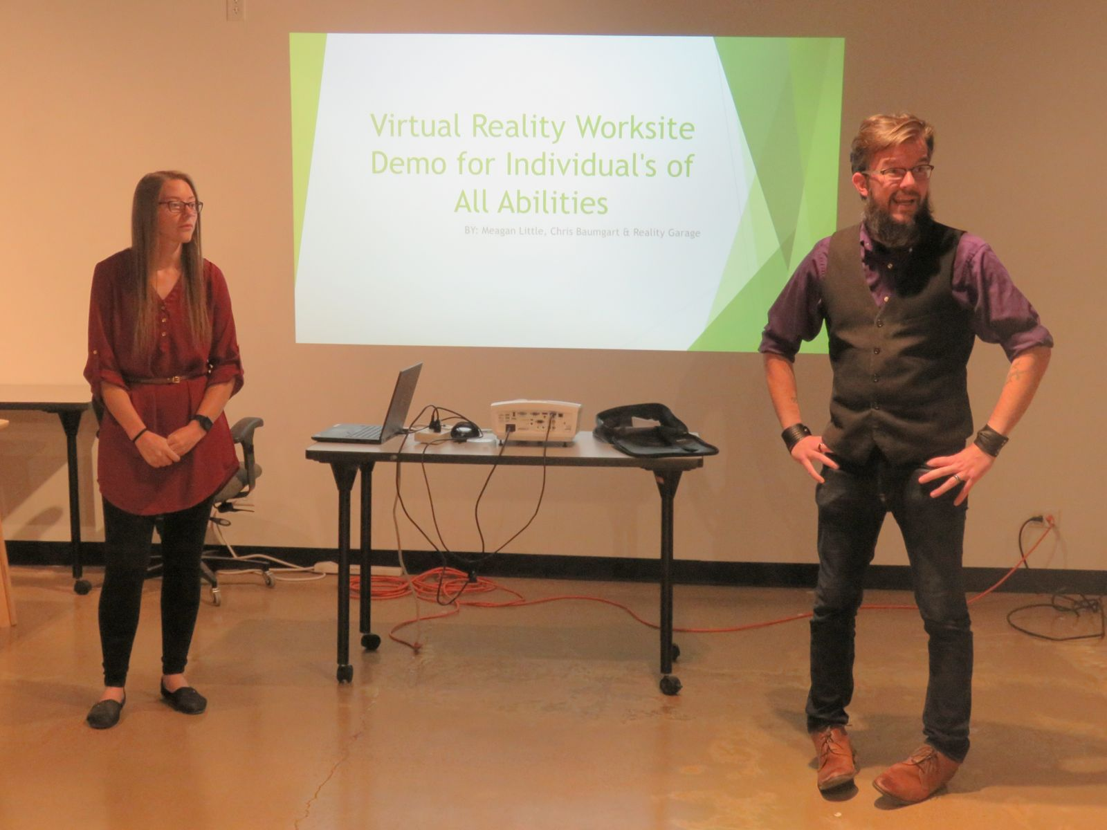 Chris and Meagan present at Longmont Startup Week