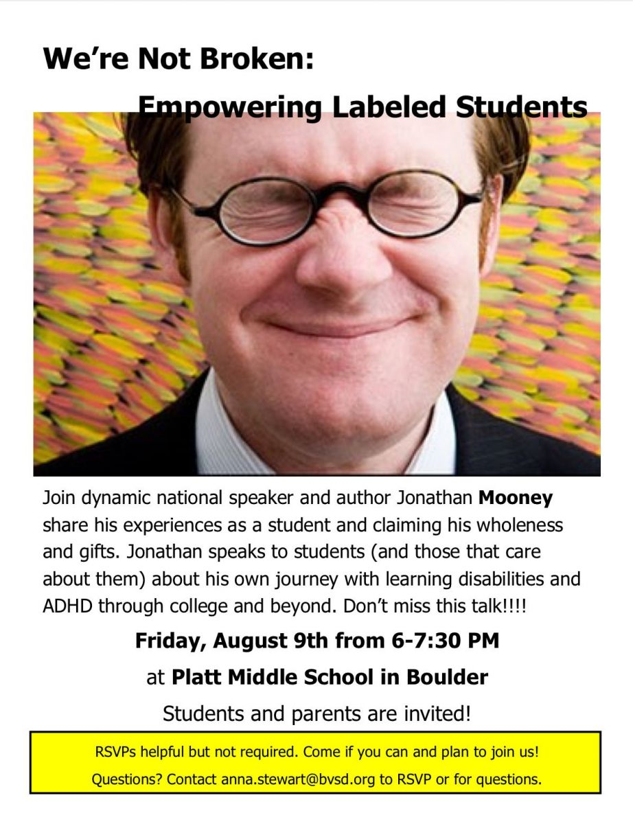 Join dynamic national speaker and author Jonathan Mooney and share his experience as a student and claiming his wholeness and gifts. Jonathan speaks to students and those that care about them about his own journey with learning disabilities and HDHD through college and beyond.