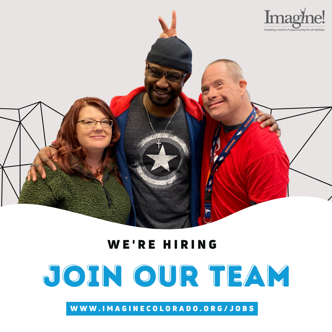Three people smiling with text that says We're Hiring and Join Our Team
