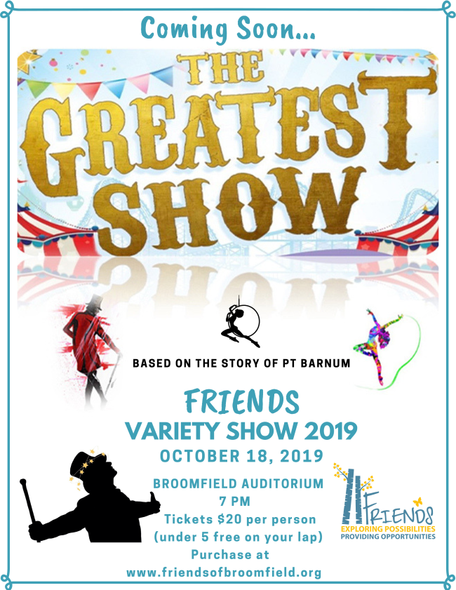 FRIENDS Variety Show – The Greatest Show based on the story of PT Barnum