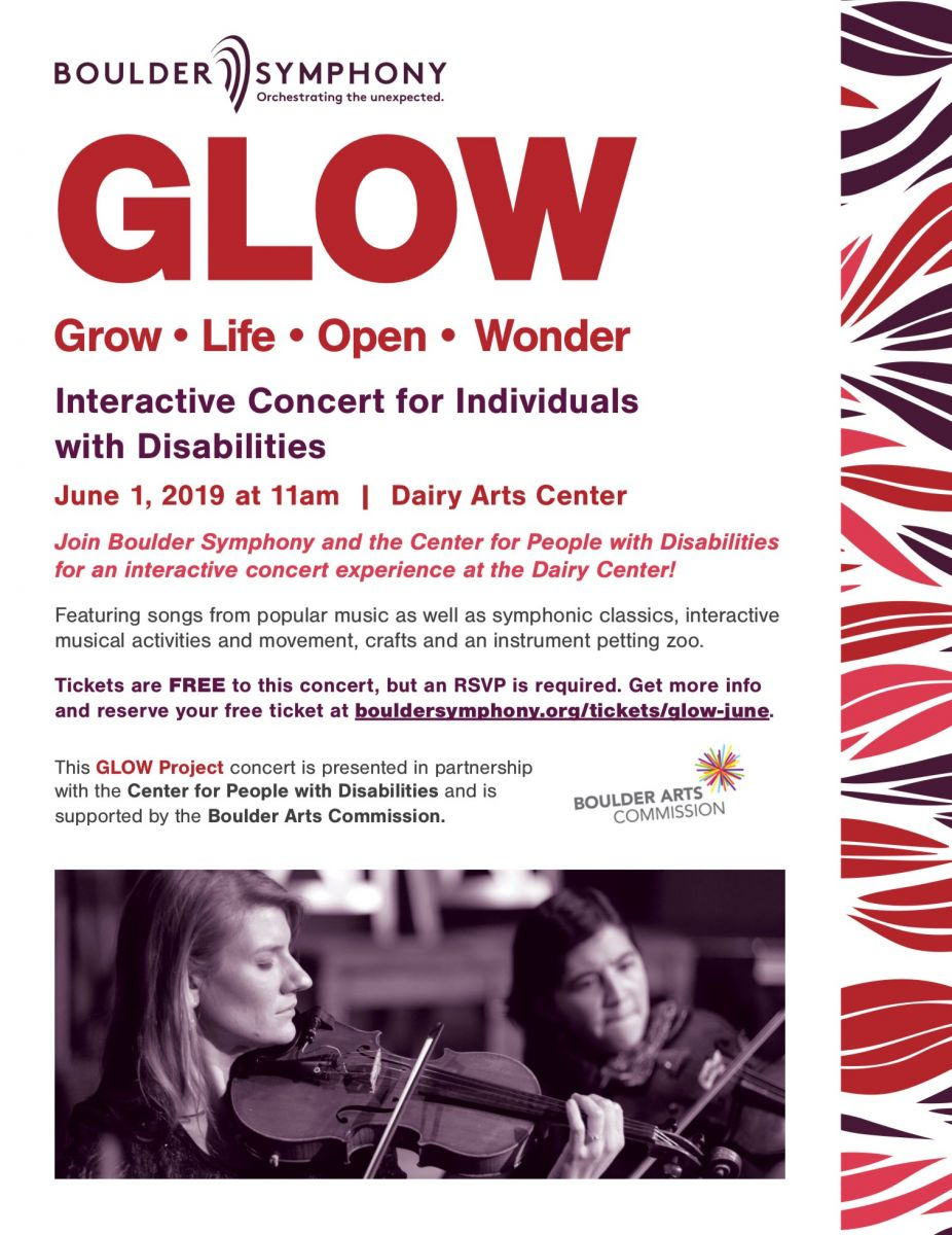 The Boulder Symphony and the Center for People with Disabilities are teaming up for interactive concert for people with disabilities June 1 at The Dairy Arts Center