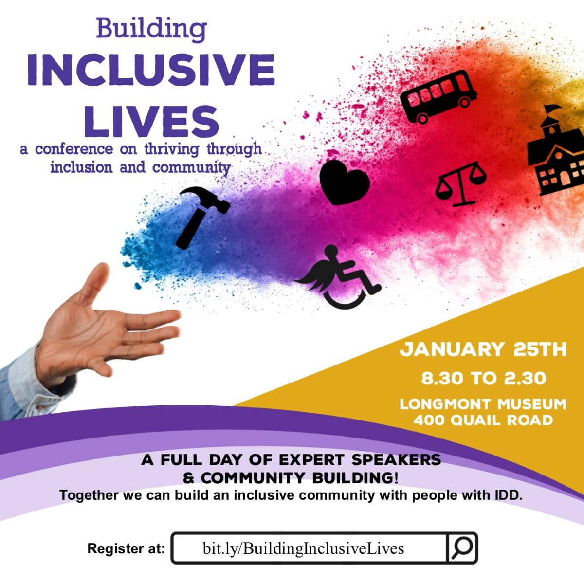 """Building Inclusive Lives"" – A Conference on Thriving through Inclusion and Community January 25"