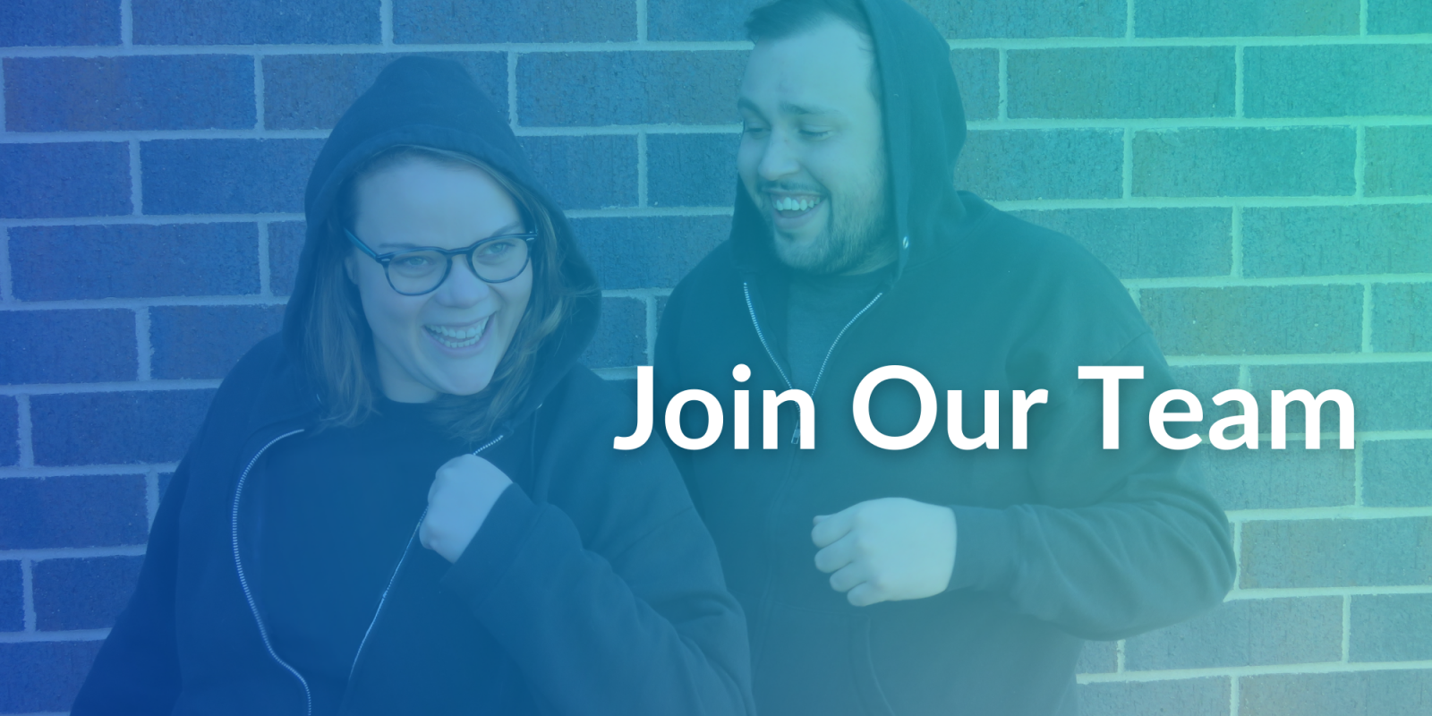 Join Our Team banner showing two people smiling