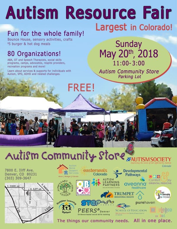Over 80 organizations will be there. Learn about services and supports for individuals with autism, SPD, ADHD, and related challenges.