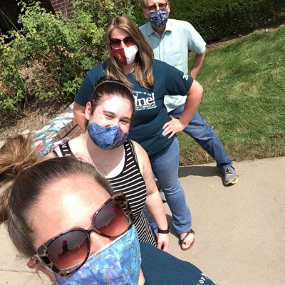 Group of Case Managers wearing masks and posing