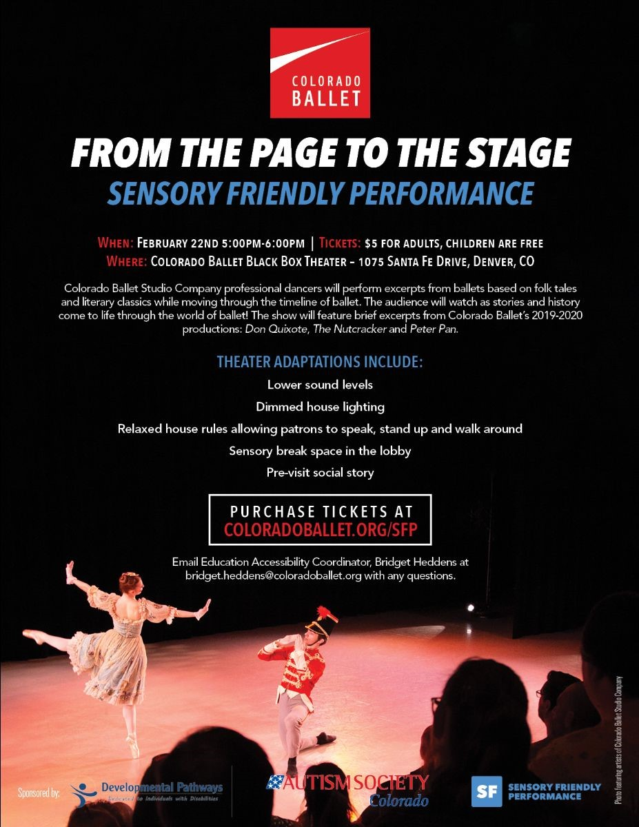Colorado Ballet Page To Stage Sensory Friendly Performance